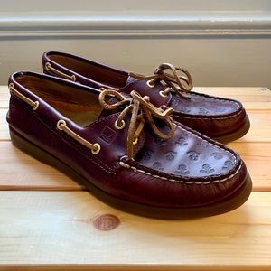 Sperry shoes with Anchor Print
